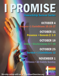 I Promise Sermon Series Poster 8.5 by 11 Rainbow