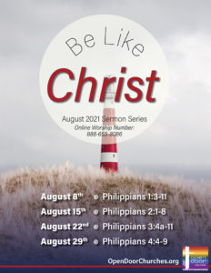 Be Like Christ 8 by 11 Small